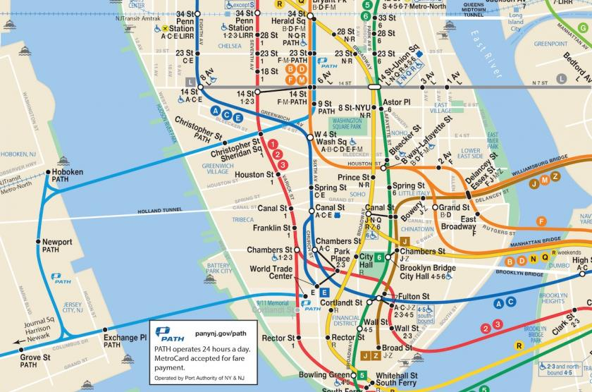 Map of nyc Metro