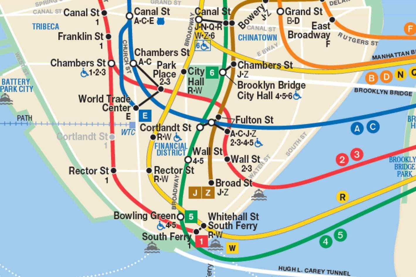 Map of nyc Subway