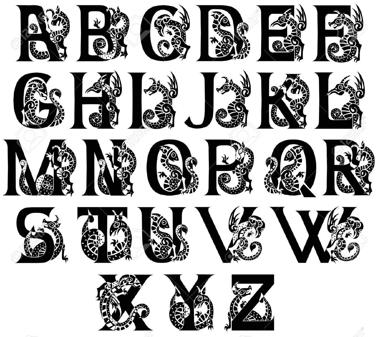 Medieval Written Alphabet