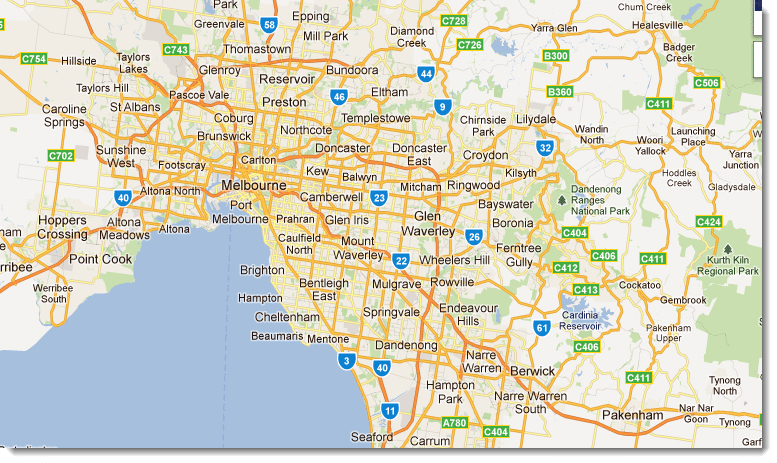 Map Of Melbourne Inner City Suburbs