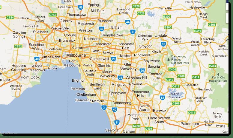 Melbourne City Map Image