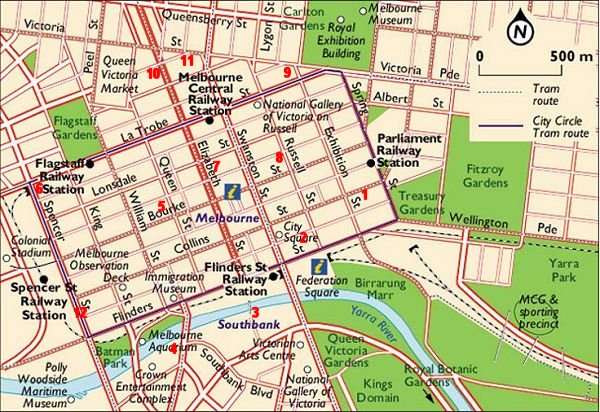 Melbourne City Map Tourist Free HD Images