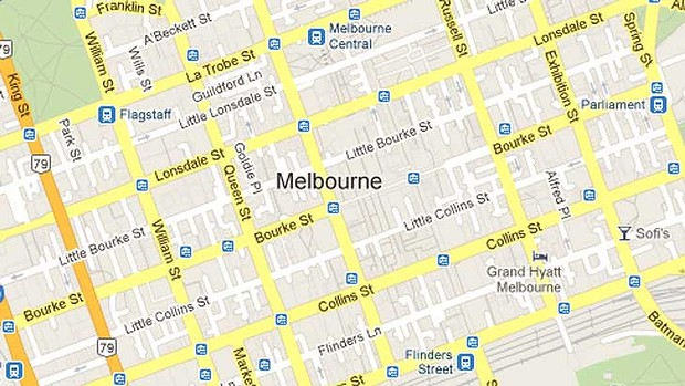 Melbourne City Street Map