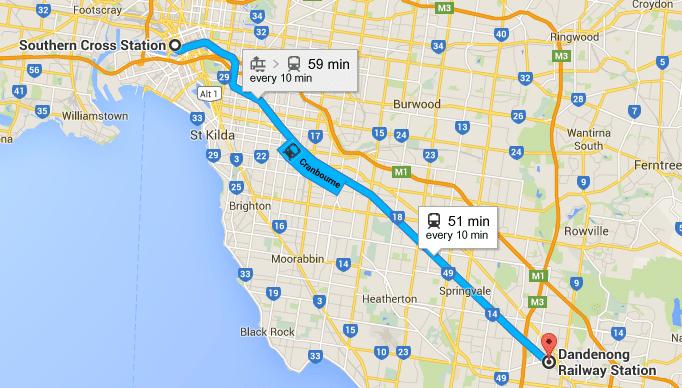 Melbourne City Train Map