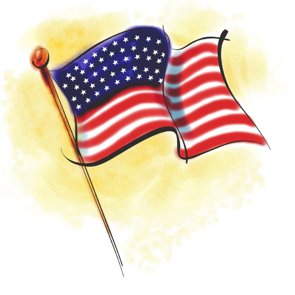 Memorial Day Flag Clip Art