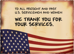 Memorial Day Message Thank you
