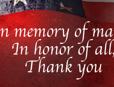 Memorial Day Thank You Banner