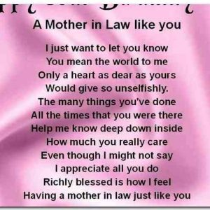 Message for Mother In Law
