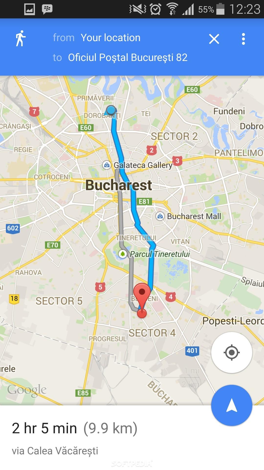 Mobile Map Screenshot