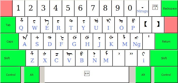 Mongolian Alphabet Keyboard