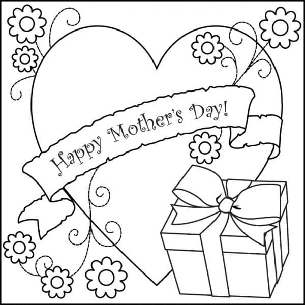 Mothers Day Image To Color