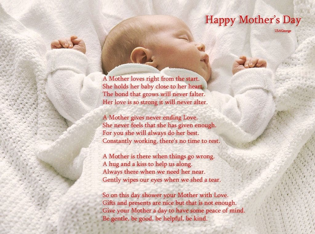 Mothers Day Poem Baby