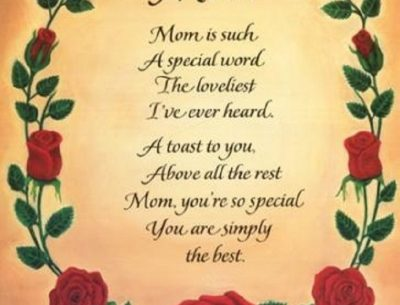 Mothers Day Poem Card
