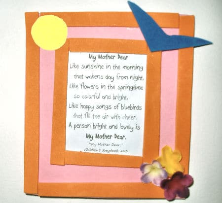 Mothers Day Poem Craft