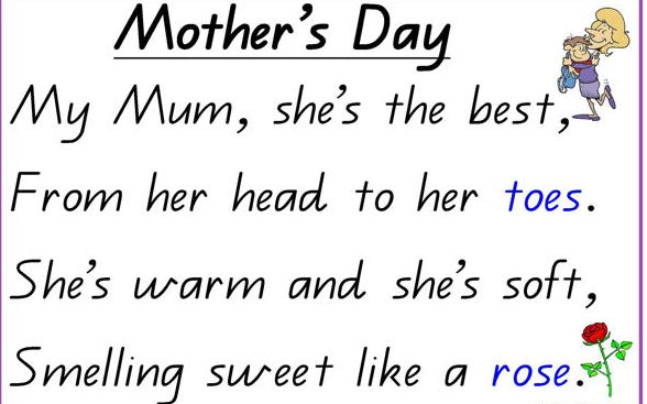 Mothers Day Poem For Children