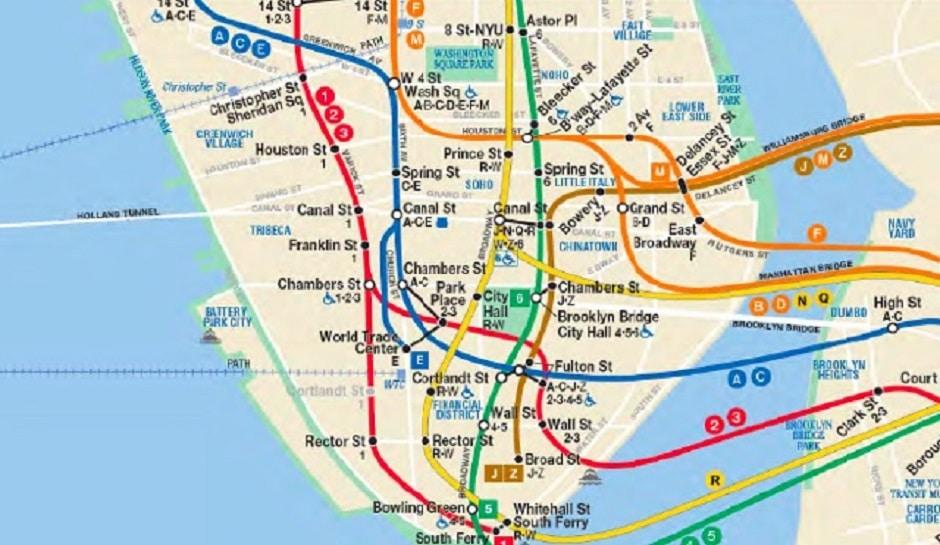 NY City Map Subway