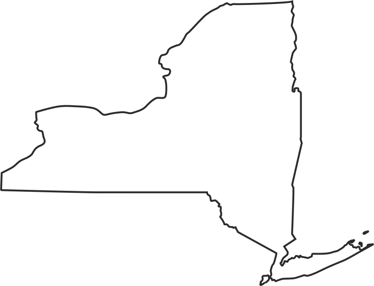 NY Map Outline