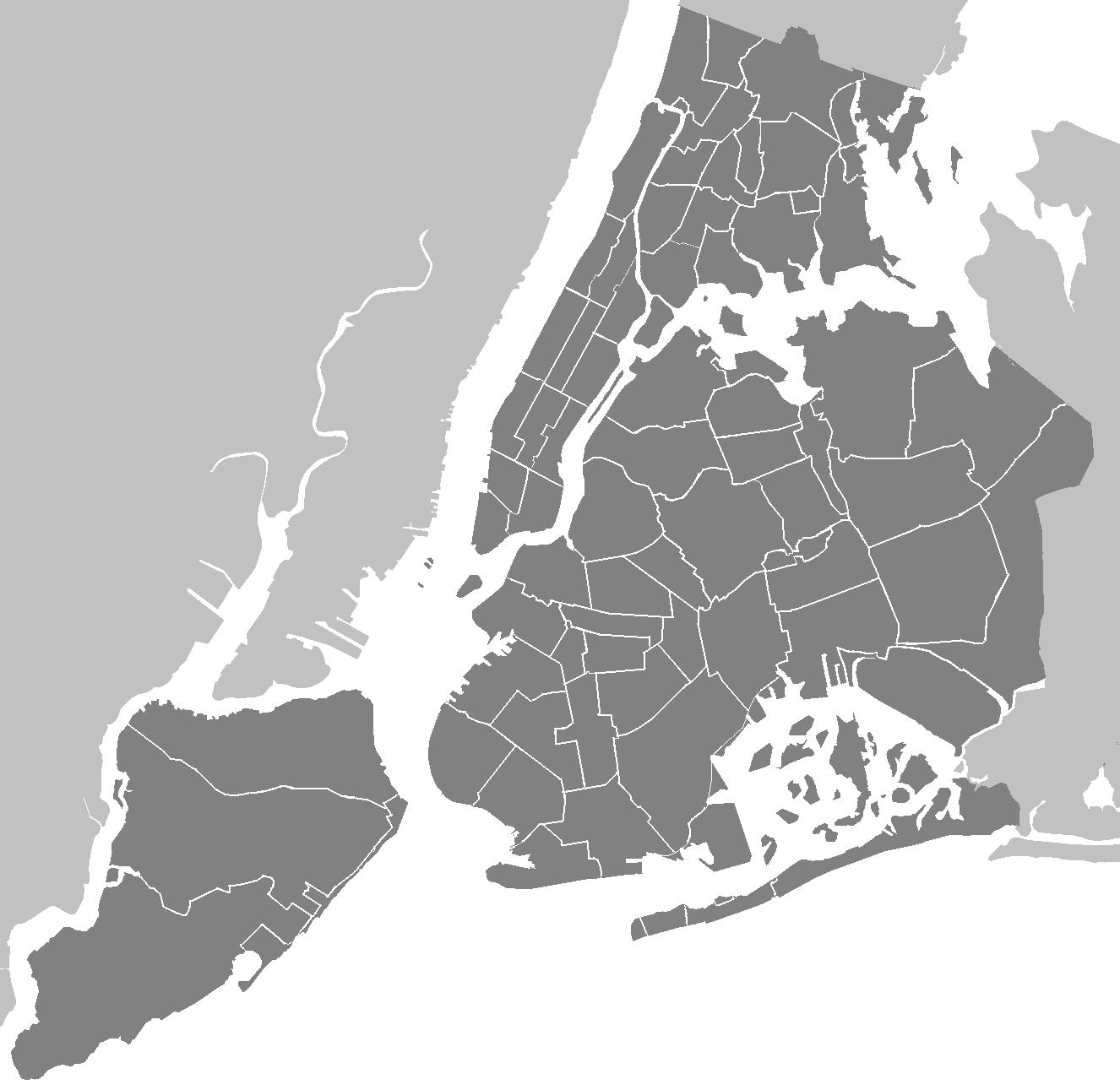 NY Map Vector