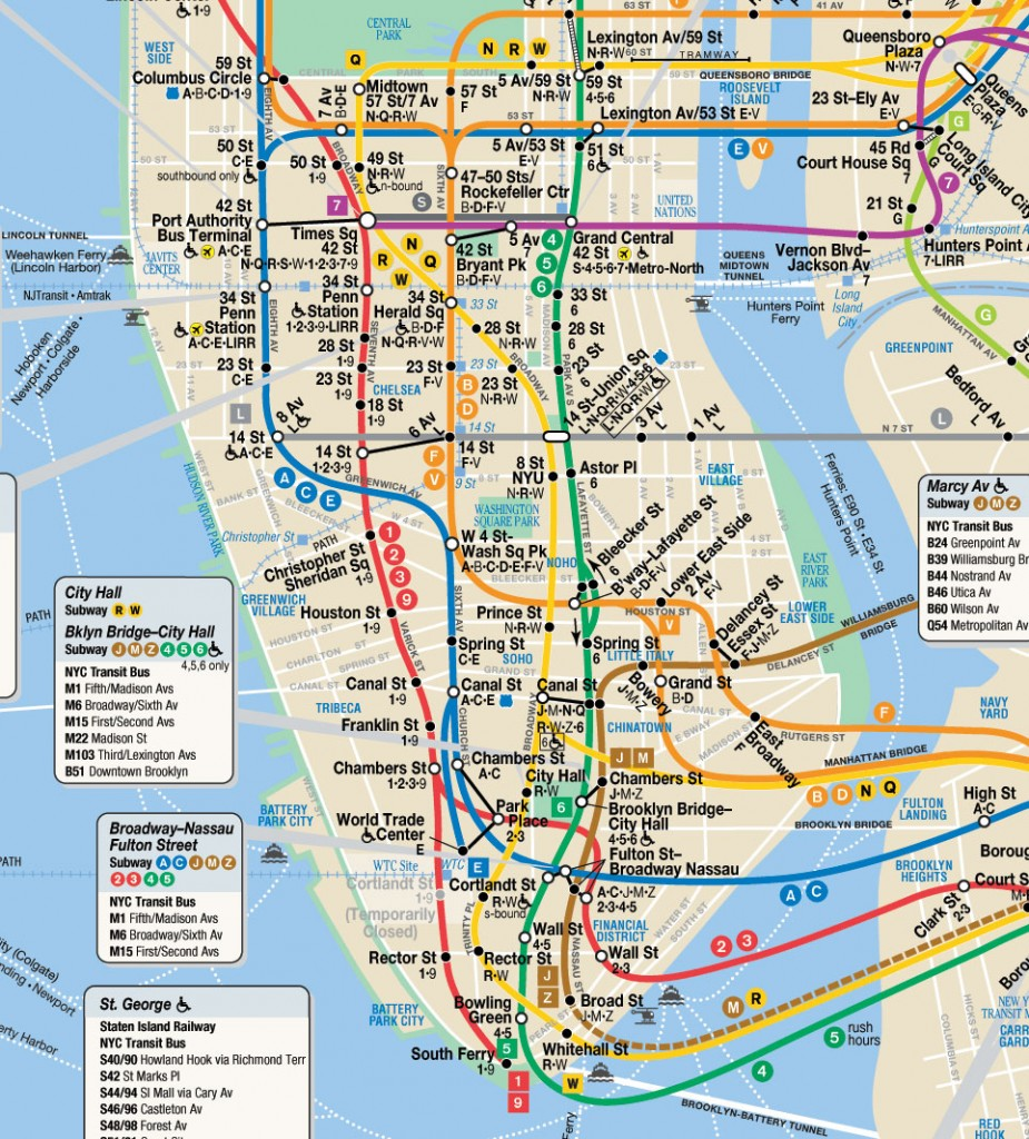 NYC Street Map Midtown