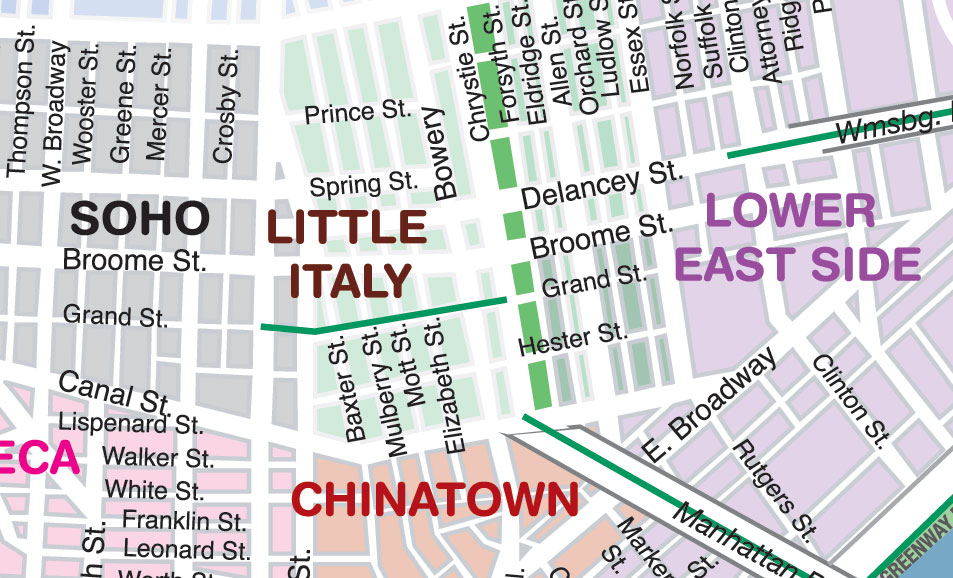 NYC Street Map Printable