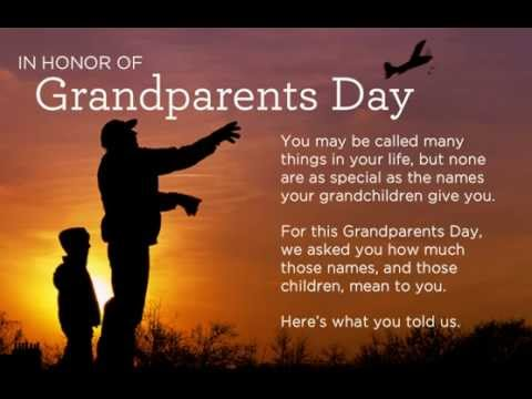 National Grand Parents Day Message