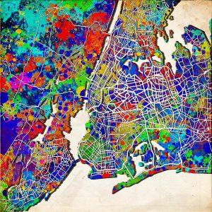 New York Map Art