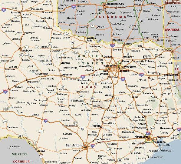 North Texas City Map