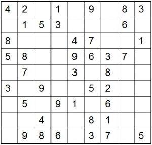 Online Easy Sudoku Printable