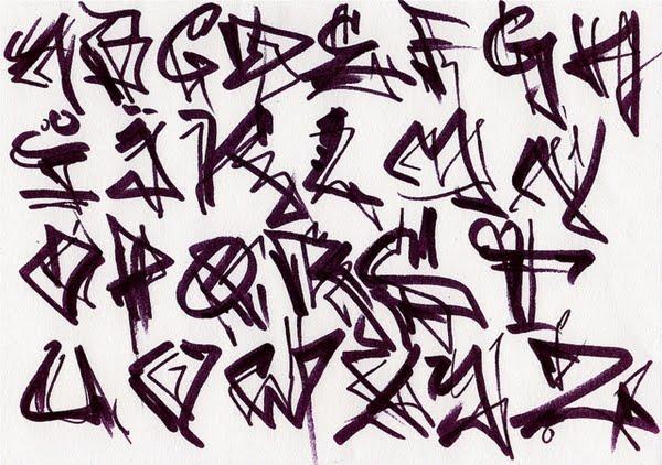 Online Graffiti Alphabet