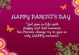 Parents Day Date 2017 Card