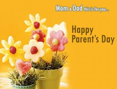 Parents Day Flowers Card