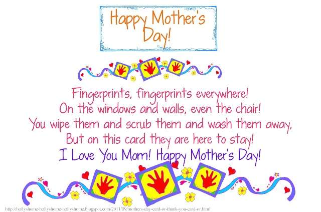 Parents Day Poems Chart For Mom