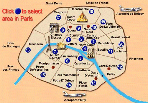 paris city center map