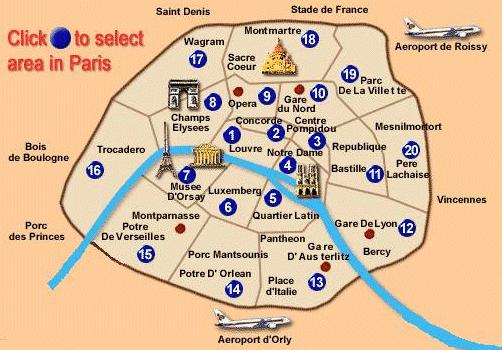 Paris City Center Map