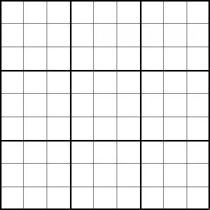 Print Blank Sudoku