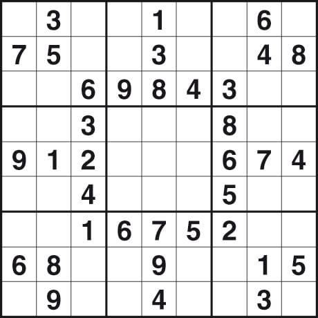 Printable Easy Sudoku Puzzles