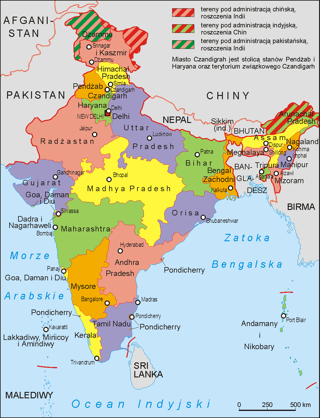 Printable Map India