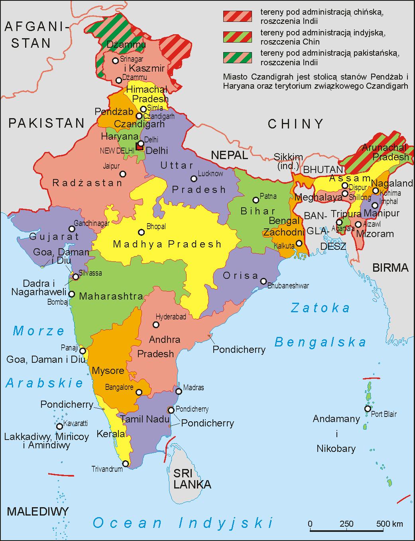 Printable Map India