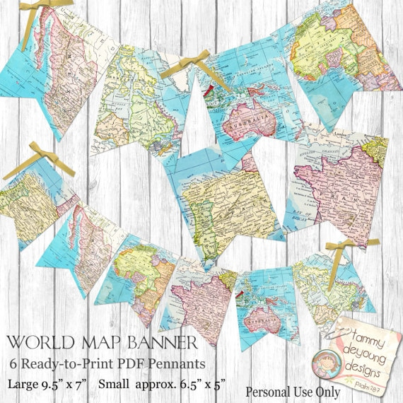 Printable Maps Banner