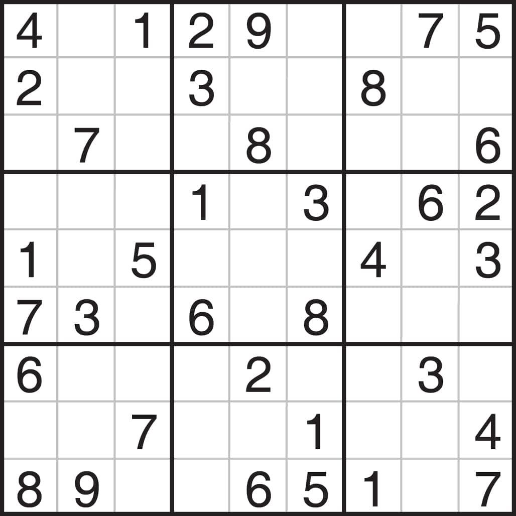 Printable Medium Sudoku 4 Per Page