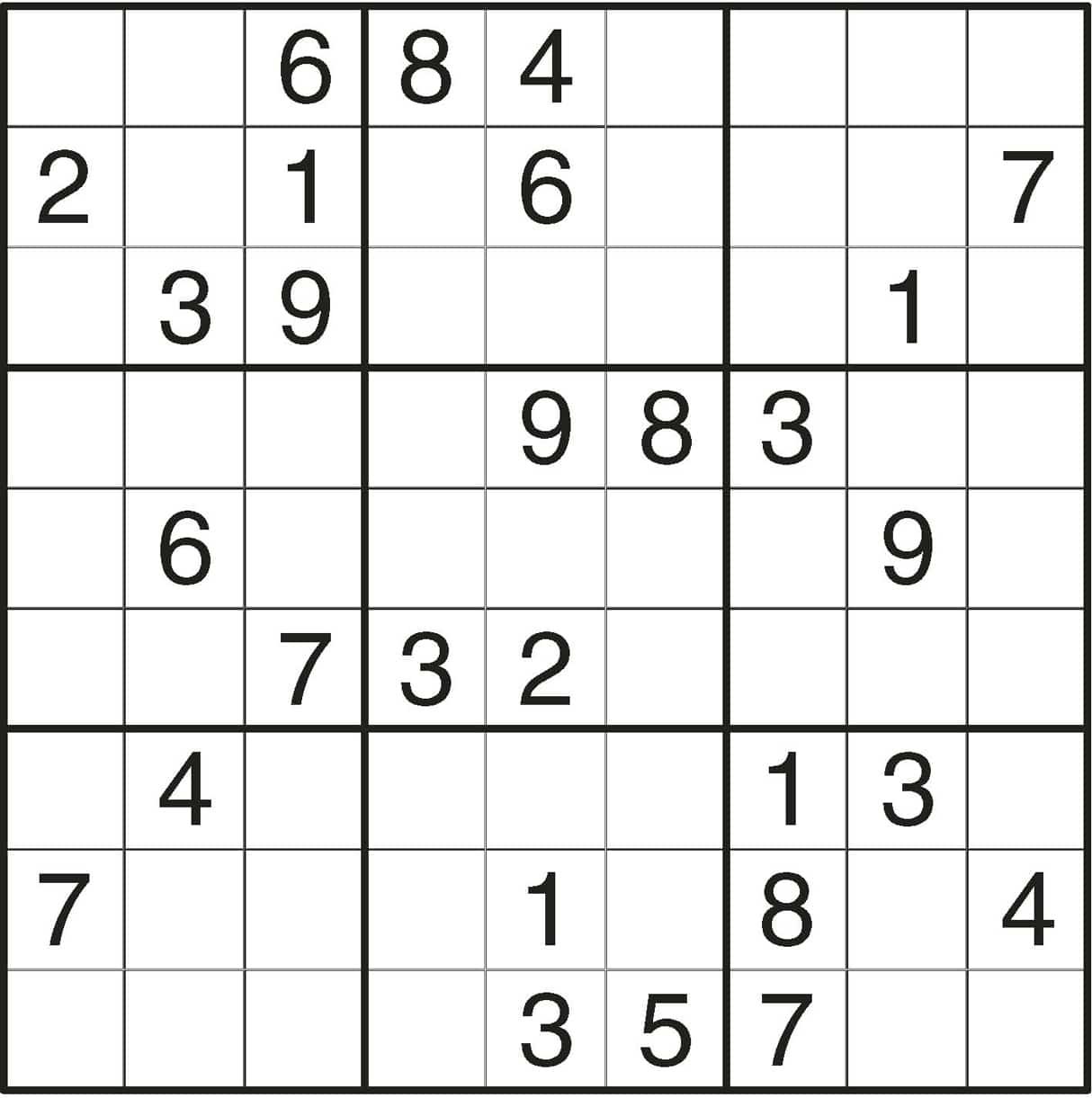Printable Sudoku Idea