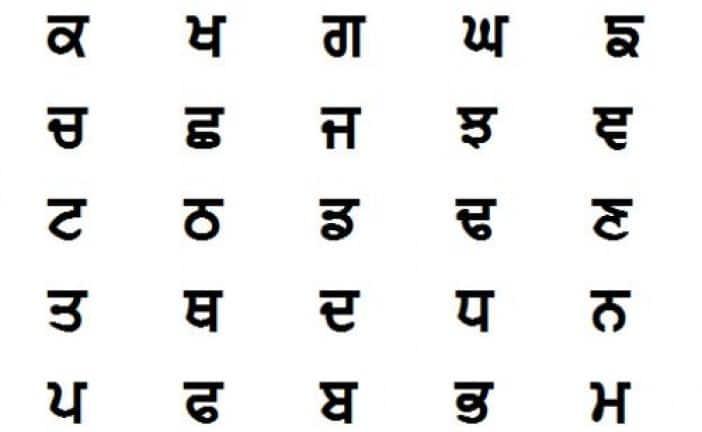 Punjabi Alphabet Font