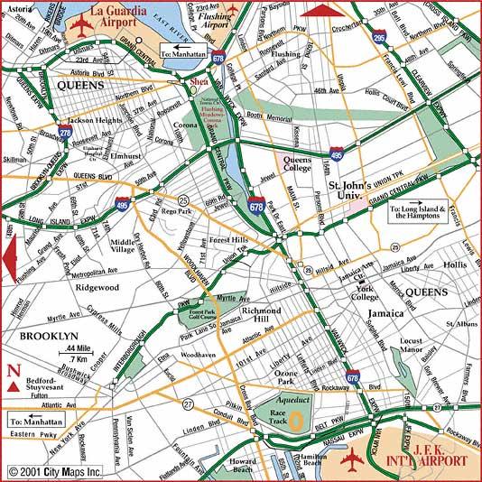 Road Map New York City