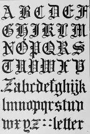 Roman Alphabet Letters