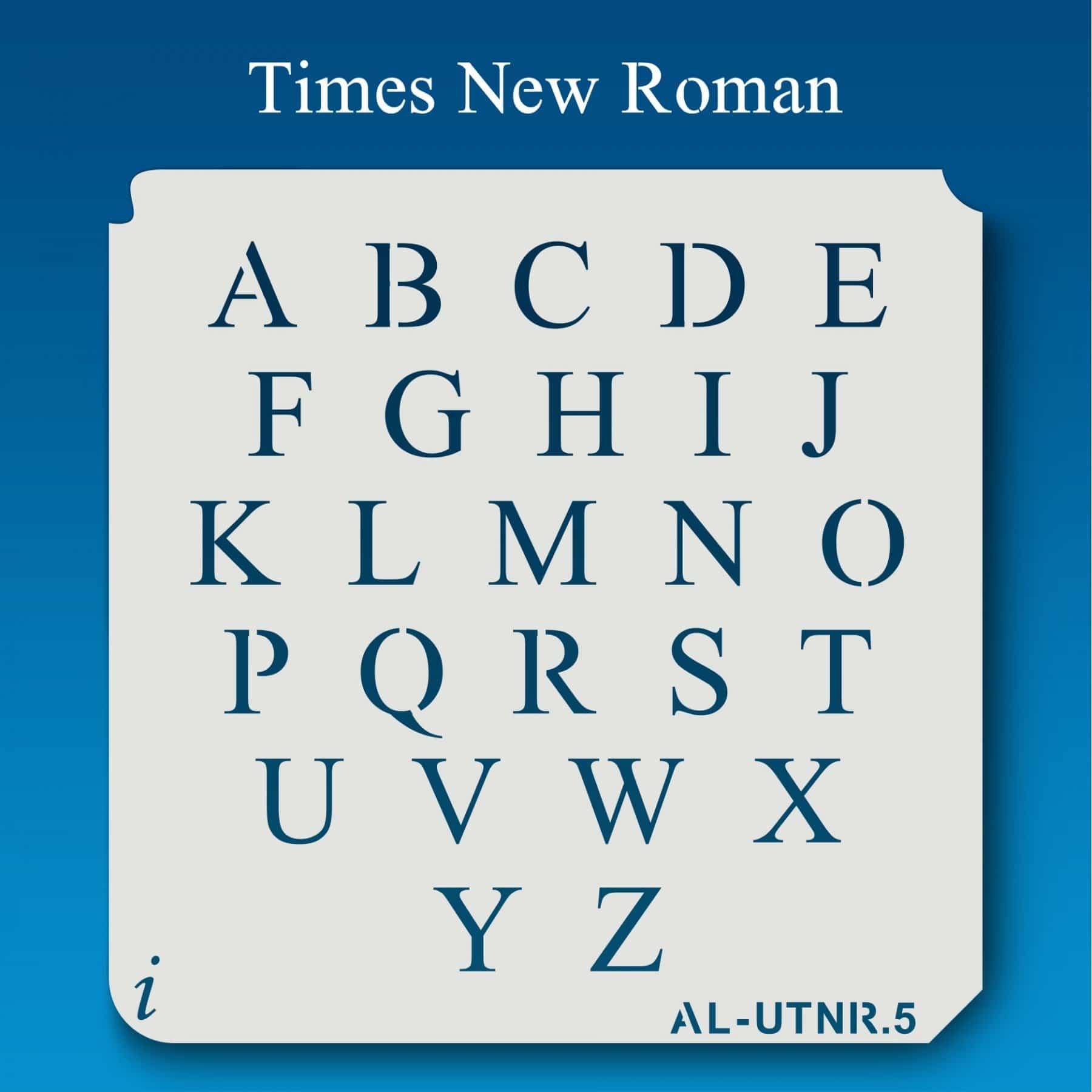 Roman Alphabet Poster