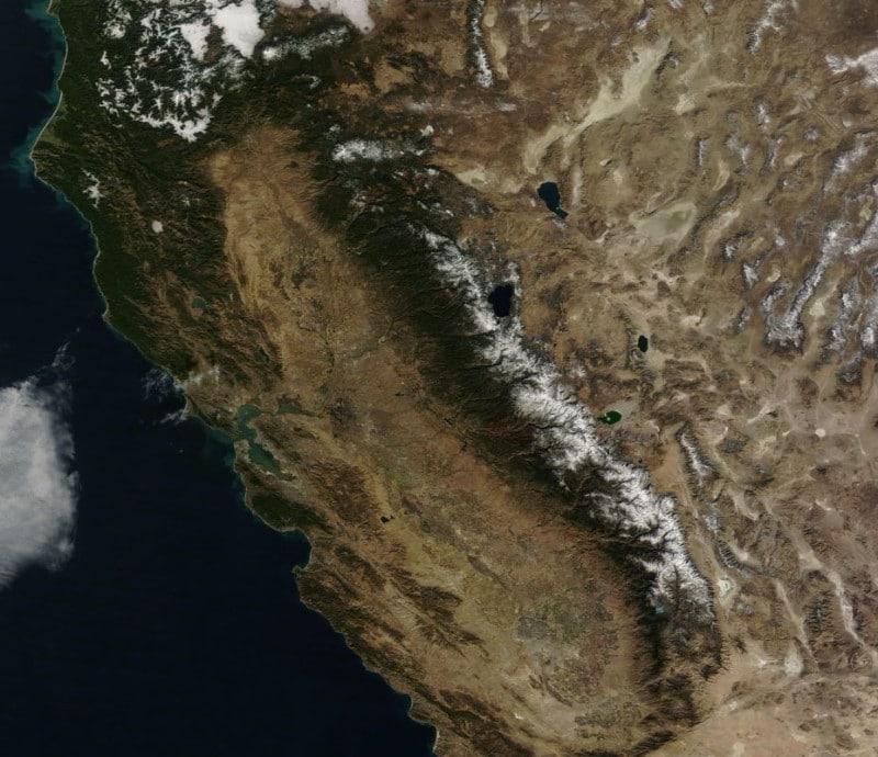 Satellite Map California