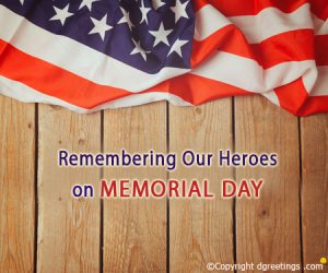 Save Memorial Day Message