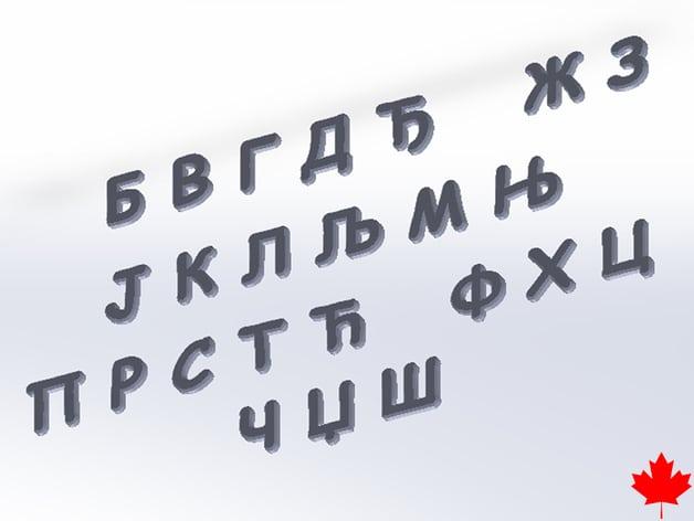 Serbian Alphabet Letters