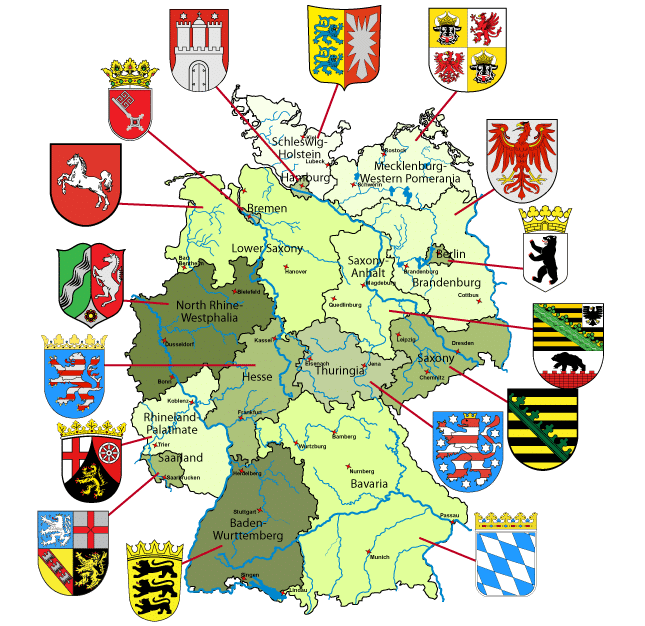 State Map Germany