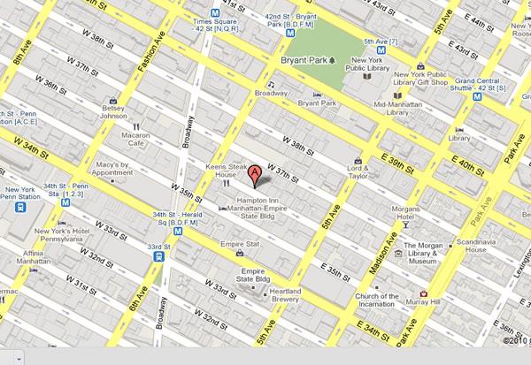 Street Map Manhattan NY